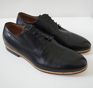 Nwob Authentic Dries Van Noten Black Leather Lace Up Oxford Dress Shoes 40 Us 7 Ebay