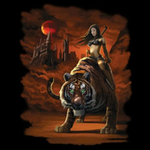 Tigress Warrior Long Sleeve T Shirts Pick Your Size