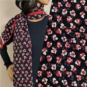 Vintage-Viyella-Navy-Red-Ditsy-Floral-Long-Chiffon-Scarf-58-034