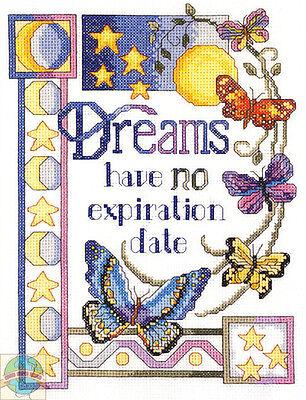 Cross Stitch Kit ~ Janlynn Butterflies Dreams Have No Expiration Date #023-0586