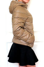 UNIQLO JAPAN Ultra Light Hooded Parka Rain Down Jacket WATER DEFENDER Brown NWT