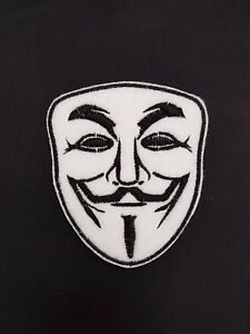 Guy Fawkes Anonymous Halloween Embroidered Patch Badge Iron on or sew - Coventry, United Kingdom - Guy Fawkes Anonymous Halloween Embroidered Patch Badge Iron on or sew - Coventry, United Kingdom