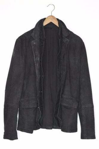 Superbe sauce ALLSAINTS homme Graft Cuir Blazer Jacket Medium afficher le titre d'origine