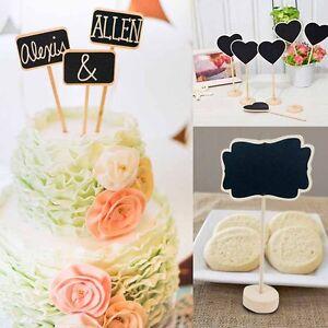 10x Tischkarten Tafel Hochzeit Party Deko Tischdeko Kreidetafel