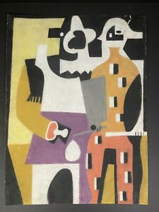 "Ravenet painting. ""Pair of figures"". Original Signed By the artist"
