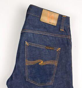 Nudie Jean Hommes HANK REY Slim Jeans Jambe Droite Taille W31 L32 BDZ162