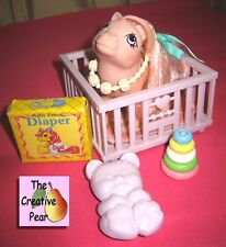 Vintage 1984 MLP G1 Hasbro My Little Pony BABY COTTON CANDY Play Set Rings Stack