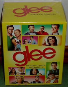 GLEE 1-6 STAGIONI SERIE COMPLETA 36 DVD NUOVO COMMEDIA MUSICALE SENZA APRIRE R2