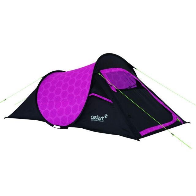 meet 92a8a 5a8a3 Gelert Quickpitch 2 Person Tent - Pink Floral Print