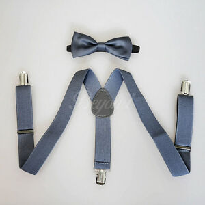 Dark-Gray-Suspender-and-Bow-Tie-Set-for-Baby-Toddler-Kids-Boys-Girls-USA