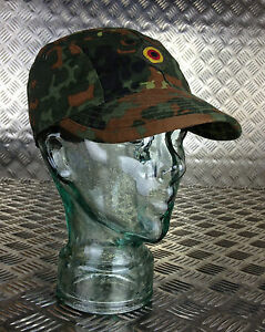 Genuine-German-Army-Flectarn-Camouflage-Peak-Baseball-Cap-Hat-All-Sizes-NEW
