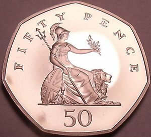 Cameo-Proof-Great-Britain-2003-50-Pence-Only-100-000-Minted-Awesome-Free-Ship