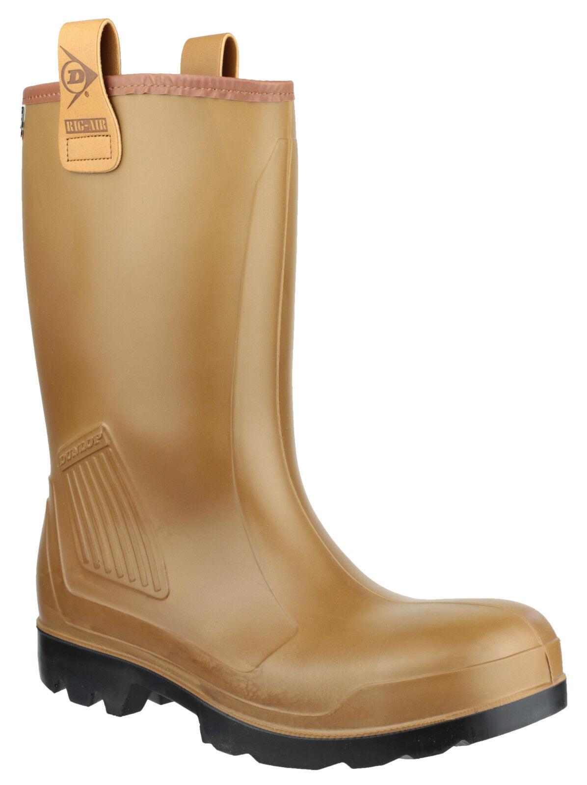 DUNLOP Purofort Rig-Air pelliccia con la piena sicurezza Rigger Pull On Boot uk6-13