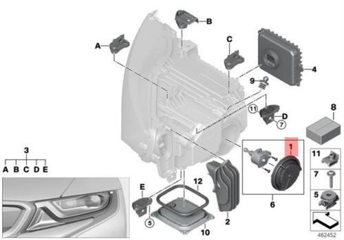 Genuine BMW E84 F52 F54 F55 F56 F57 I01 I01N Headlight Cover OEM 63122993424