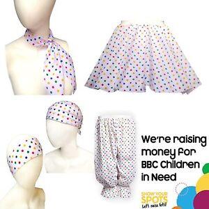 Adults Size Multi-Coloured Polka Dot Children in Need Bandanna CIN