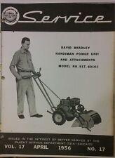 David Bradley Handiman Power Unit Attachment Service Amp Parts Manual 58p Tractor