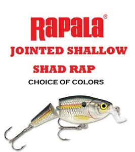 Rapala-Jointed-Shallow-Shad-Rap-JSSR-05-2-1-4-oz-Choice-of-Colors