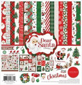 "CARTA BELLA ""DEAR SANTA"" 12X12 PAPER PACK CHRISTMAS  SCRAPJACK'S PLACE"