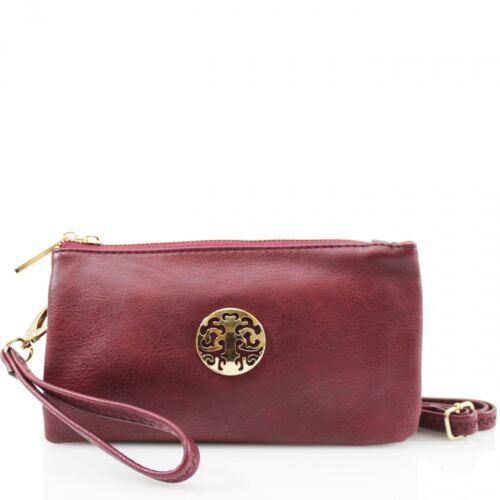 New Womens Multi Pockets Small Shoulder Handbag Wristlet Crossbody Purse Bag