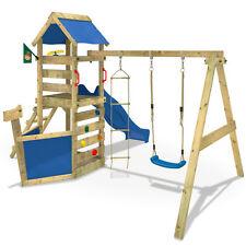 WICKEY WaveFlyer Spielturm Massivholz Kletterturm Spielplatz Schaukel Rutsche