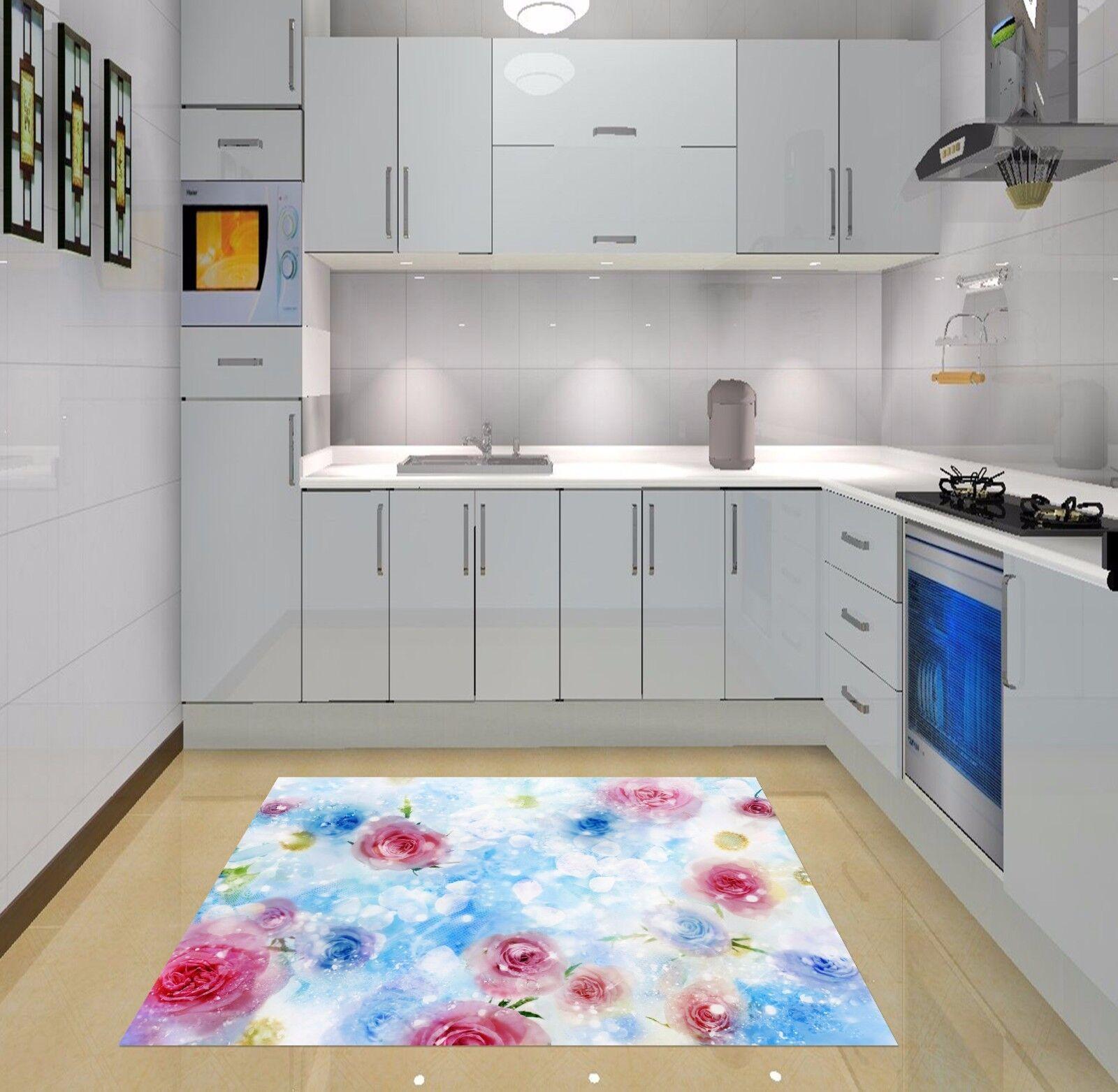3D Shiny Rose 378 Kitchen Mat Floor Murals Wall Print Wall Deco AJ WALLPAPER UK