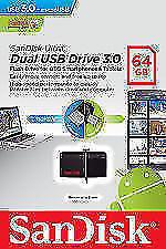 SanDisk Ultra 64GB Dual USB Drive 3.0 OTG Pendrive 64GB PENDRIVE SMP4