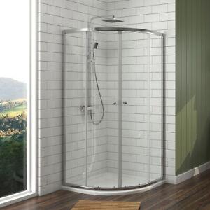 Details zu Duschkabine Viertelkreis 80x80/90x90 cm Runddusche Schiebetür  Dusche Duschtür