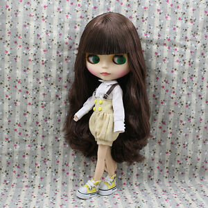 Blythe Nude Doll from Factory Matte Face Jointed Body Dark