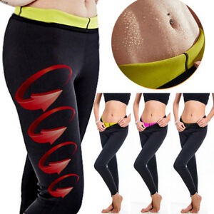 6ac203de73 Thermo Sweat Hot Neoprene Body Shaper Long Pants Slim Legging Yoga ...