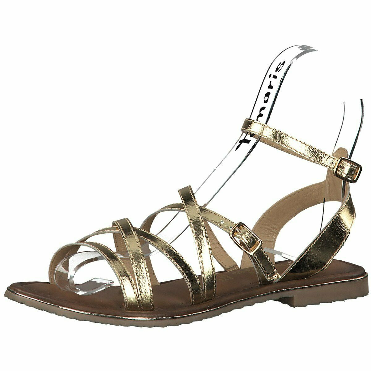 Tamaris Damen Sandaletten Da.-Sandalette 1-1-28173-32 909 Gold 624275