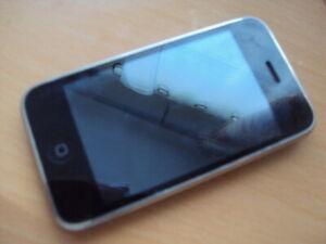 Apple iPhone 3 G 8 Go A1241 (GSM) défectueux pour pièces pas de charge