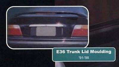 Euro Chrome Stainless Steel Trunk Lid Trim For 1999-2005 BMW E46 3-Series Sedan