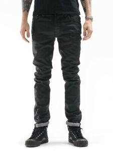 Nudie-Herren-Slim-Skinny-Fit-Jeans-Hose-Thin-Finn-Back-2-Black