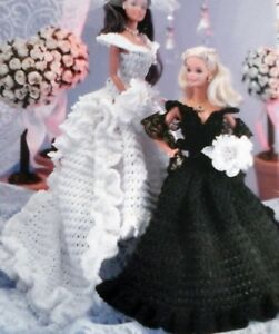 CROCHET-PATTERN-Barbie-Fashion-doll-Bridal-gown-Wedding-dress-evening-princess-6