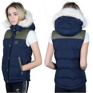 Details zu Adidas Originals Padded Damen Weste Vest Winter Jacke Warm Fur Winterweste 36 S