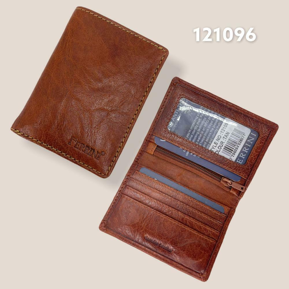 Men RFID Ferrin Genuine Leather Bifold Wallet Credit Card Id Magnetic Closure