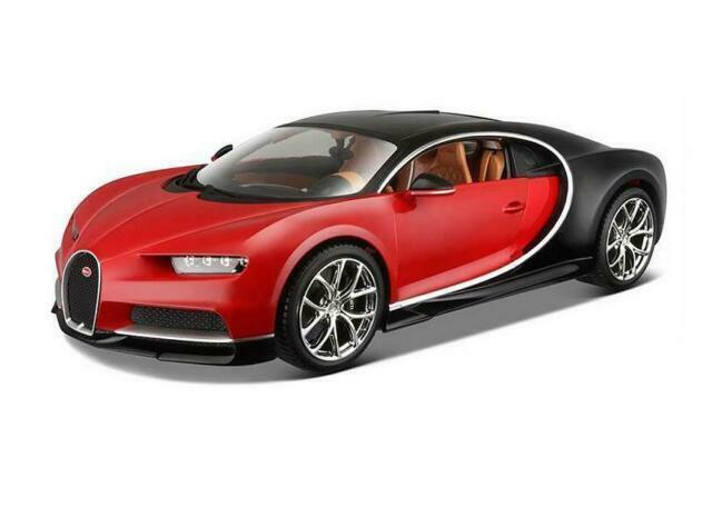 1:18 Bburago Bugatti Chiron 2016 red//black