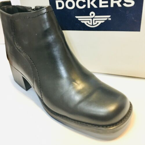 Dockers Delaware Women's Booties Size 10 Black Lea