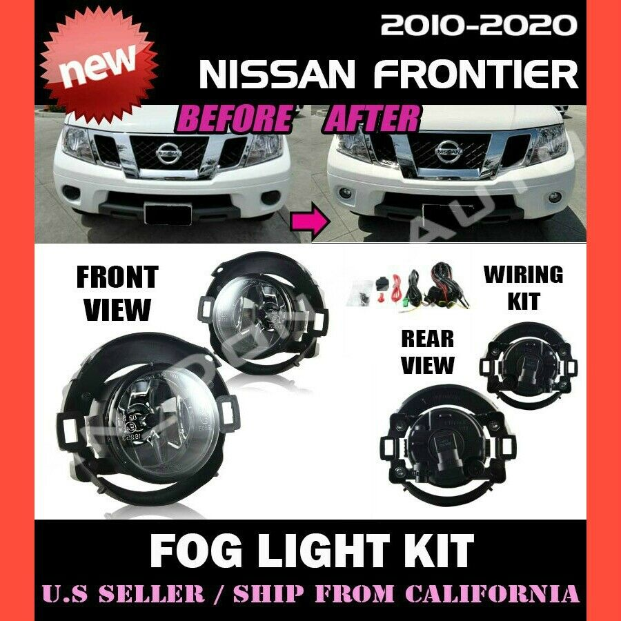 Driver and Passenger Fog Lights Lamps Replacement for Nissan Pickup Truck 26150-EA825 26155-EA825