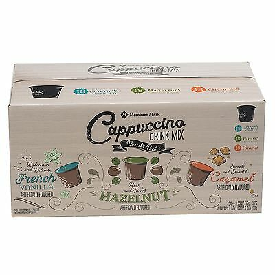 Members Mark Cappuccino Variety Pack 54 K Cups French