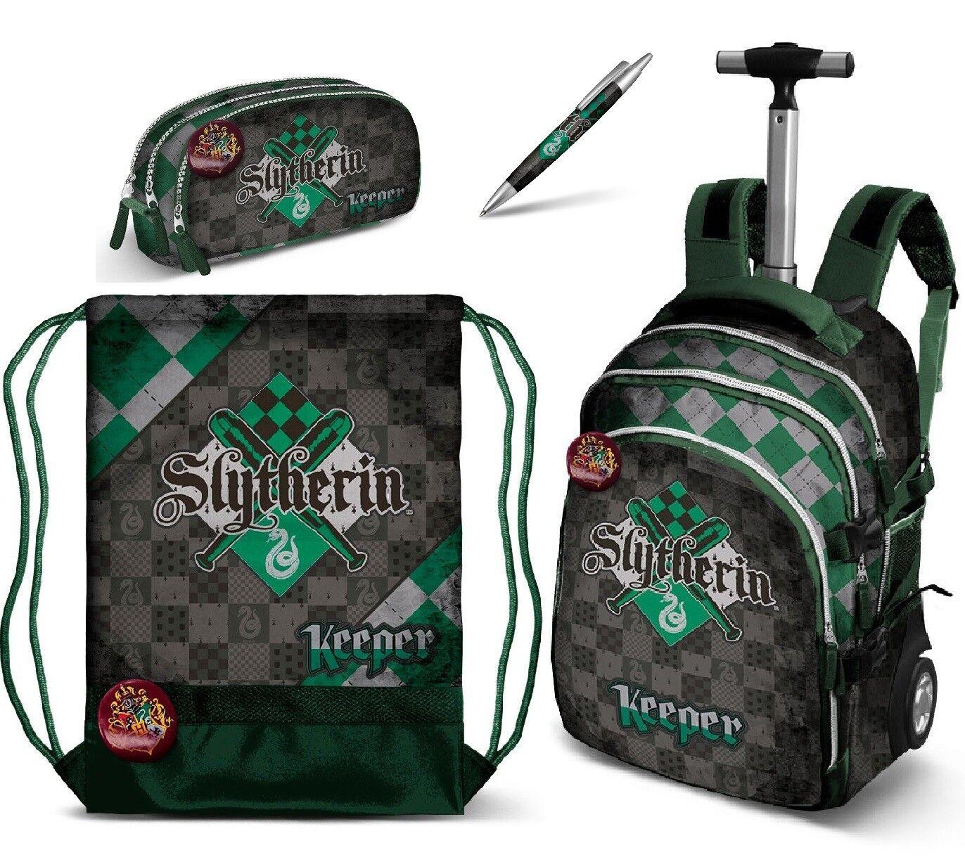 Harry Potter SLYTHERIN set set set Zaino Trolley Scuola,Astuccio Organizzato,Sacca Sport 864d62