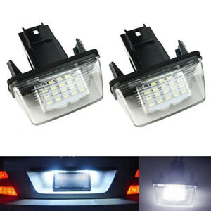 2x-LED-numero-de-plaque-licence-Light-pour-Peugeot-206-307-CitroenC3-C6-Xsara-6H