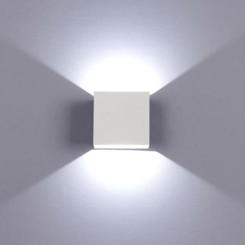 6W Waterproof Modern LED Wall Light Up Down Cube Indoor Outdoor Lighting Lamp