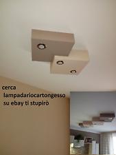 lampadario moderno led soffitto plafoniera faretti design cartongesso nuovo
