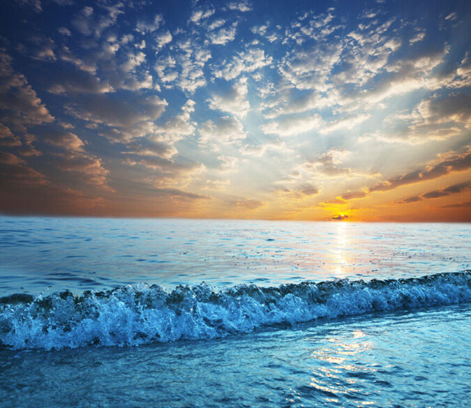 3D Sunrise, bluee Beach 347 Fototapeten Wandbild Fototapete BildTapete Familie DE