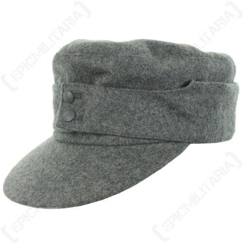 GERMAN ARMY M43 HEER Field SKI CAP WW2 Repro All Sizes Hat Field Grey Peak Sun