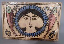 Persia Persian Polychrome Pottery Figural Tile w/ Fish Decor ca. 18-19th c.