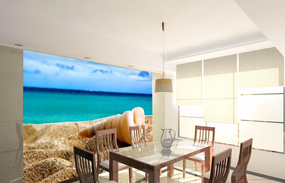 3D Muschelstrand 743 Tapete Wandgemälde Tapete Tapeten Bild Familie DE Summer  | Erste Qualität  | Vollständige Spezifikation  | Online-Shop