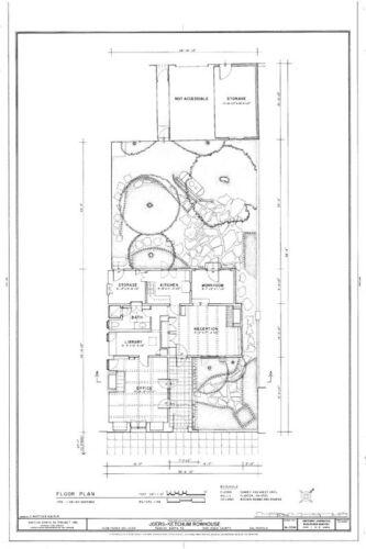 Mediterranean style patio home, courtyard floor plan, architectural blueprints