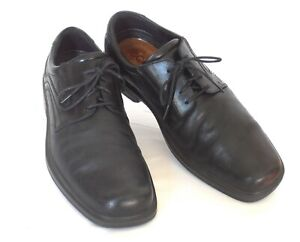 Portuguese-ECCO-Men-039-s-Size-47-13-13-5-M-Black-Leather-Plain-Toe-Dress-Oxfords